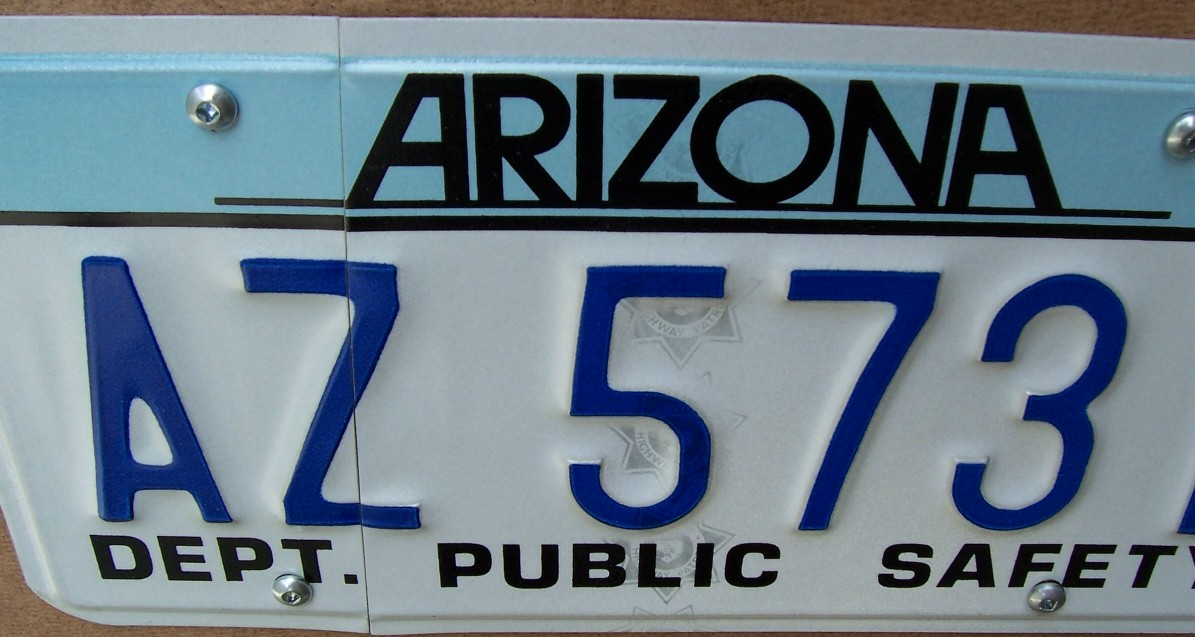 Arizona licence plates with 3d print