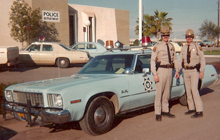 Arizona police officers and car picture