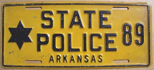 Arkansa SP | State Trooper Plates