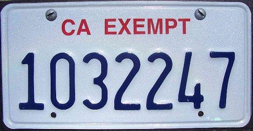 Classic California Plates CAHPcurrent