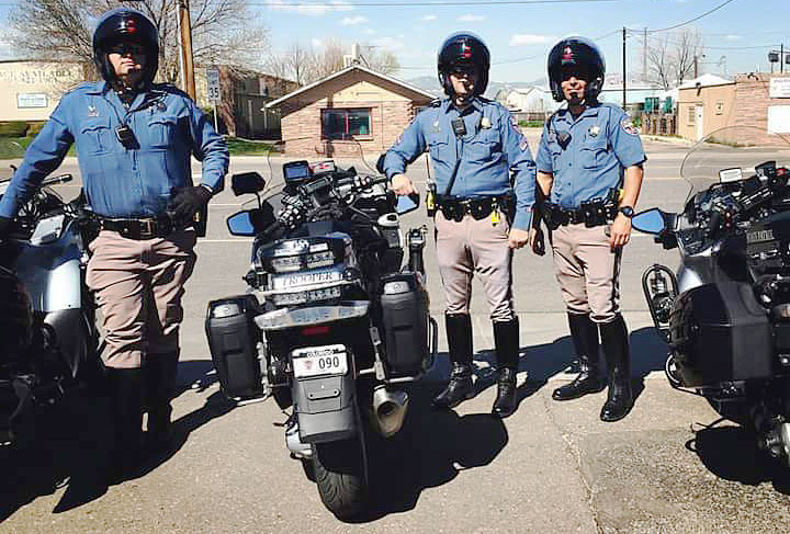 Colorado motorcycle police officers