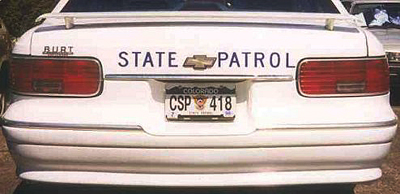 Colorado license plate on car image