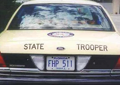 Florida HP   State Trooper Plates