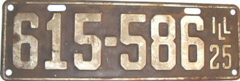 Illinois early police license plate