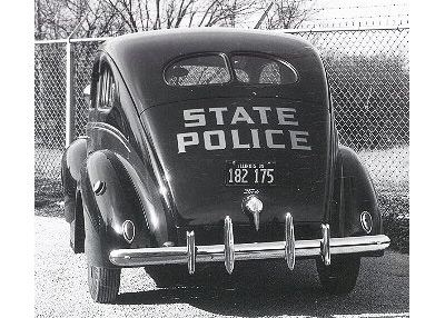 Illinois state police license plate on car