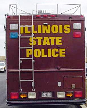 Illinois police license plate