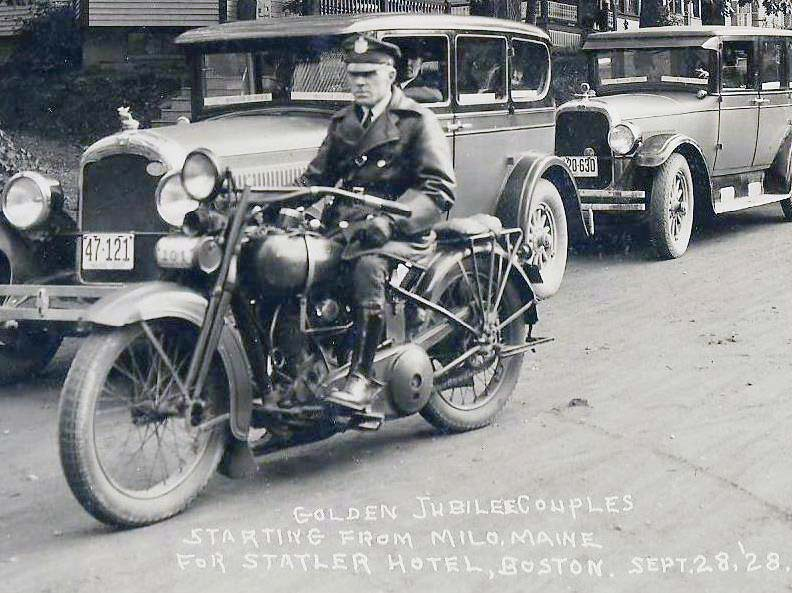 Maine police motorcycle 1928