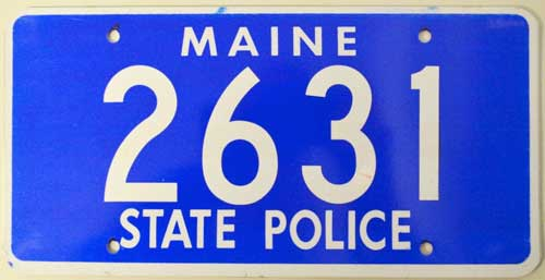 Maine police plate