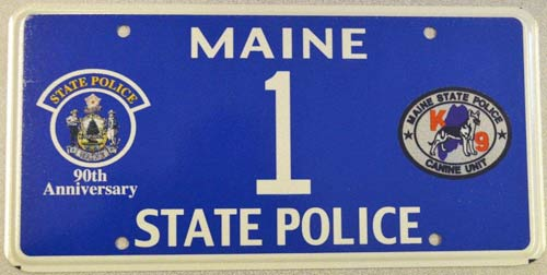 Maine license plate image
