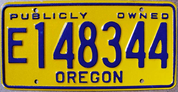 oregon :: state trooper plates