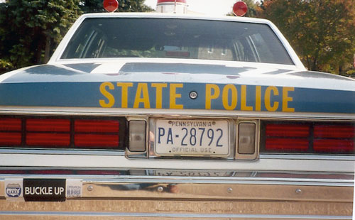 Pennsylvania police license plate image ... & STP :: Pennsylvania State Police