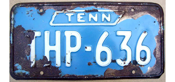 Tennessee HP   State Trooper Plates