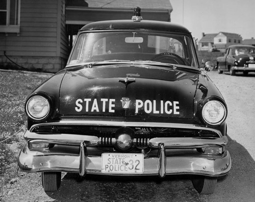 1953 Vermont police car