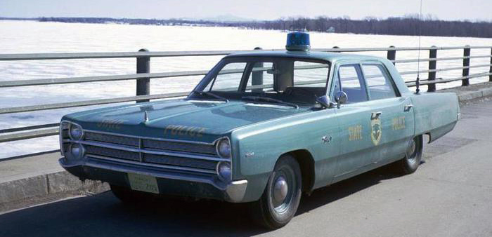 Vermont 1967 police car