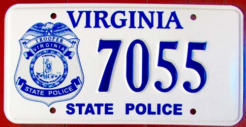 ... Virginia police license plate image  sc 1 st  State Trooper Plates & STP :: Virginia State Police