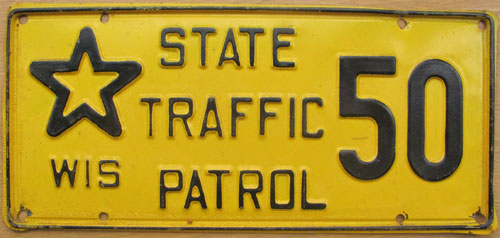 Wisconsin  police license plate image