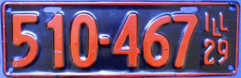 Illinois State Trooper Plates